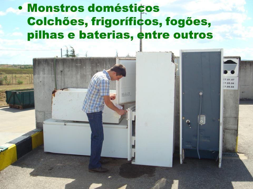 Monstros domésticos Colchões, frigoríficos, fogões, pilhas e baterias, entre outros