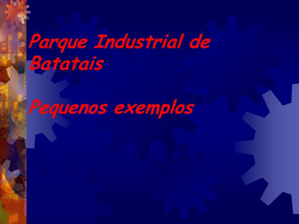 Parque Industrial de Batatais Pequenos exemplos
