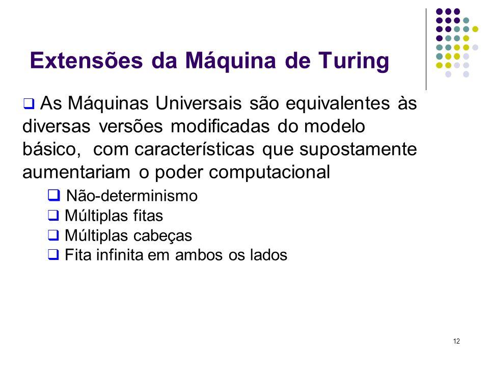 Extensões da Máquina de Turing