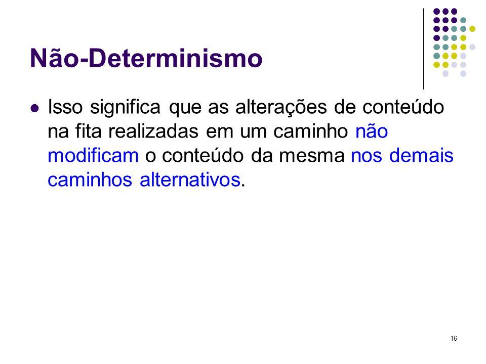 Não-Determinismo