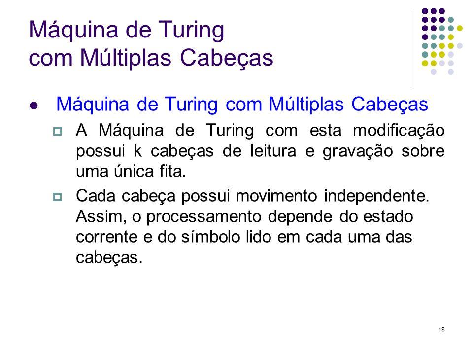 Máquina de Turing com Múltiplas Cabeças