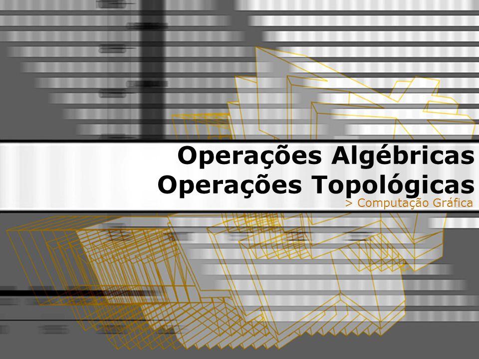 Operações Algébricas Operações Topológicas