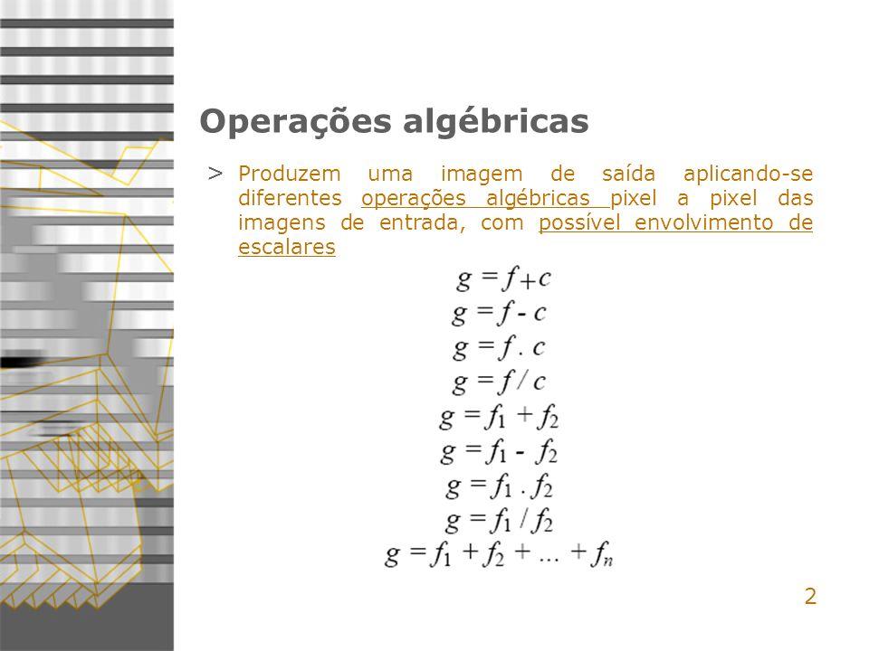 Operações algébricas