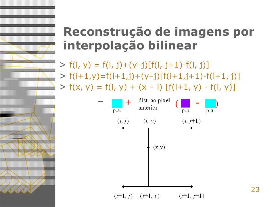 Reconstrução de imagens por interpolação bilinear