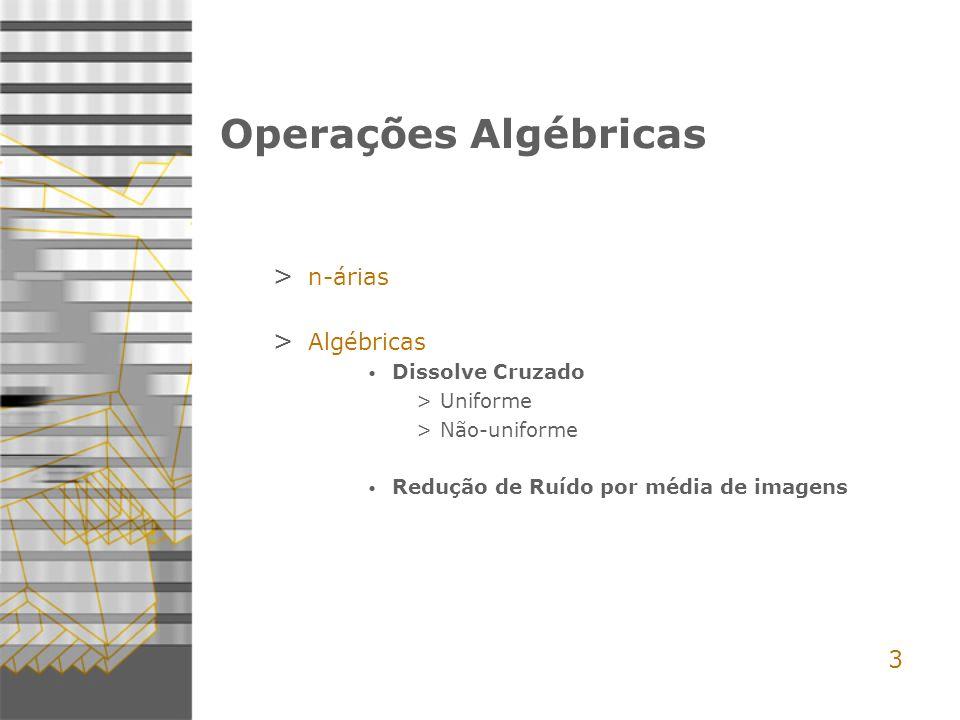 Operações Algébricas 3 n-árias Algébricas Dissolve Cruzado Uniforme