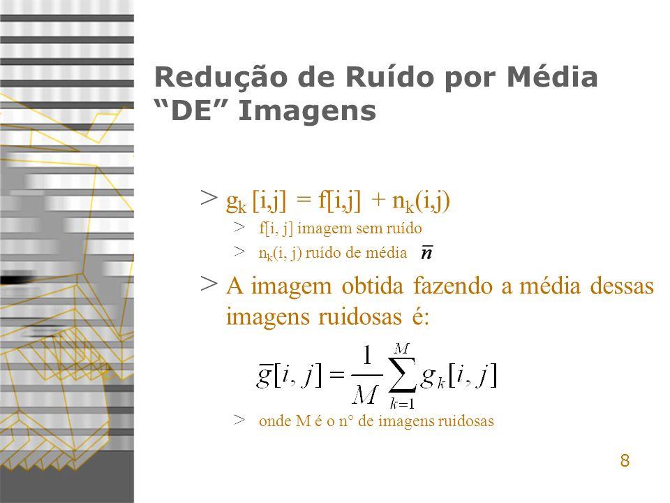Redução de Ruído por Média DE Imagens