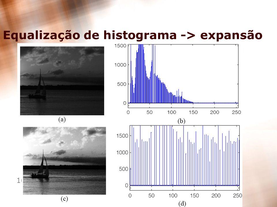 Equalização de histograma -> expansão
