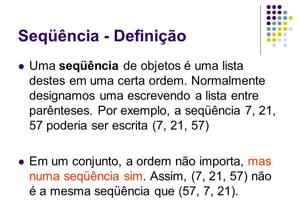 Seqüência - Definição