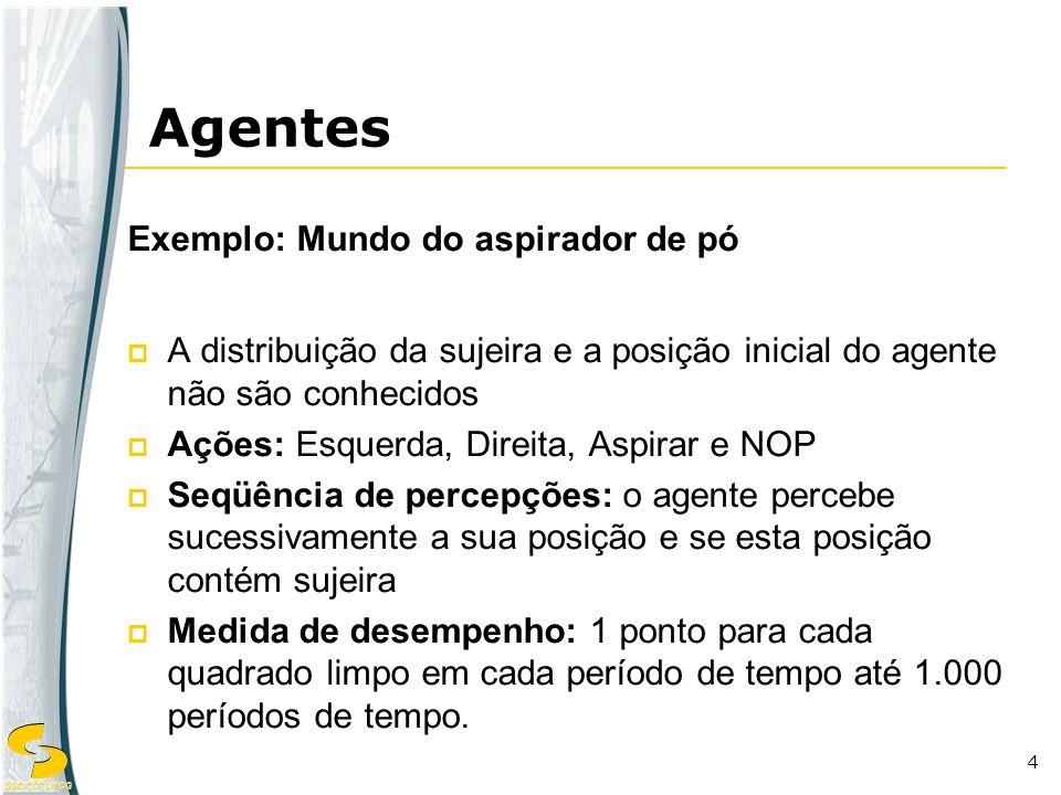 Agentes Exemplo: Mundo do aspirador de pó