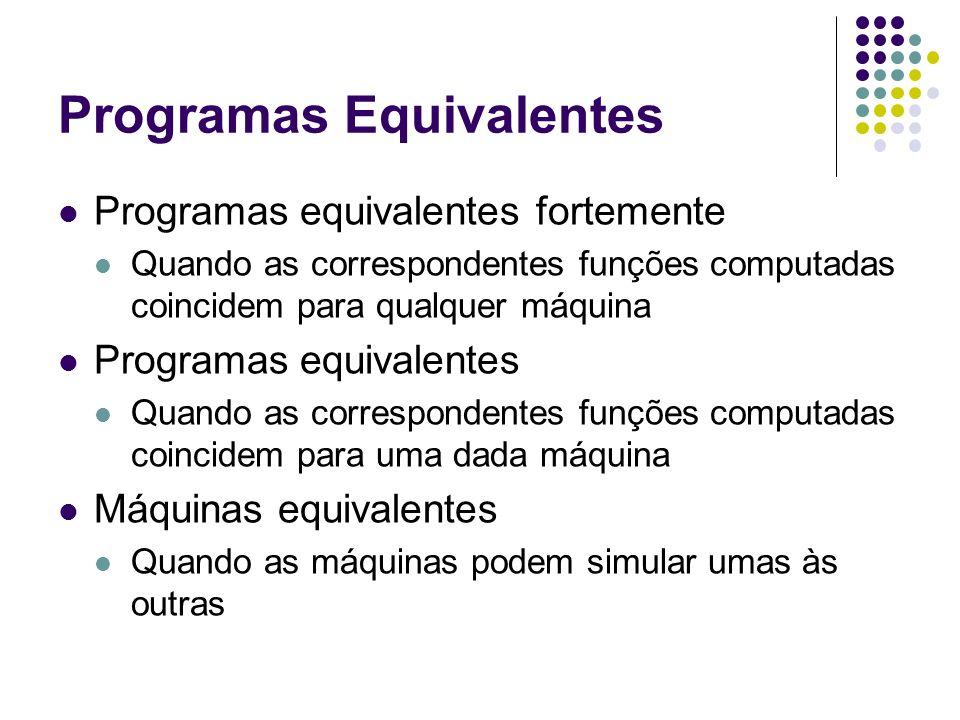 Programas Equivalentes