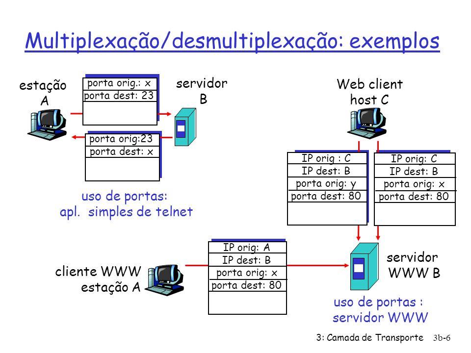 Multiplexação/desmultiplexação: exemplos