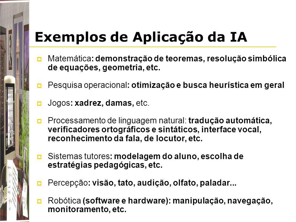 Exemplos de Aplicação da IA