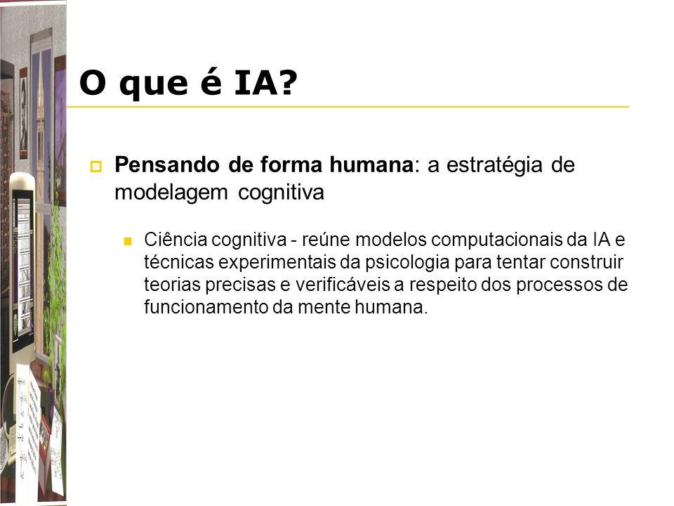 O que é IA Pensando de forma humana: a estratégia de modelagem cognitiva.