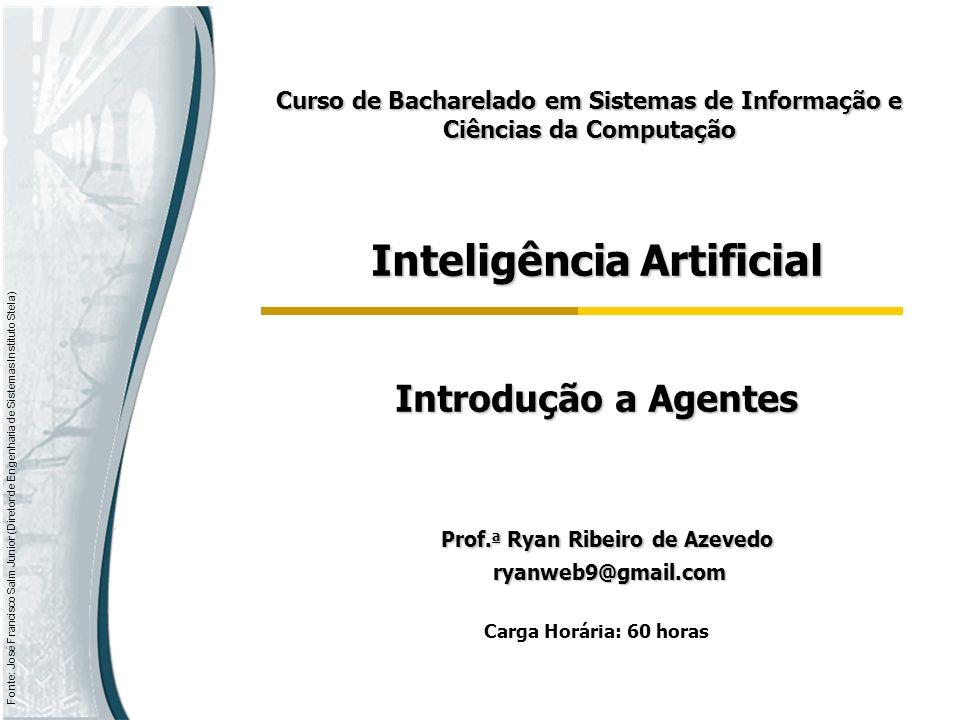 Inteligência Artificial Prof.a Ryan Ribeiro de Azevedo