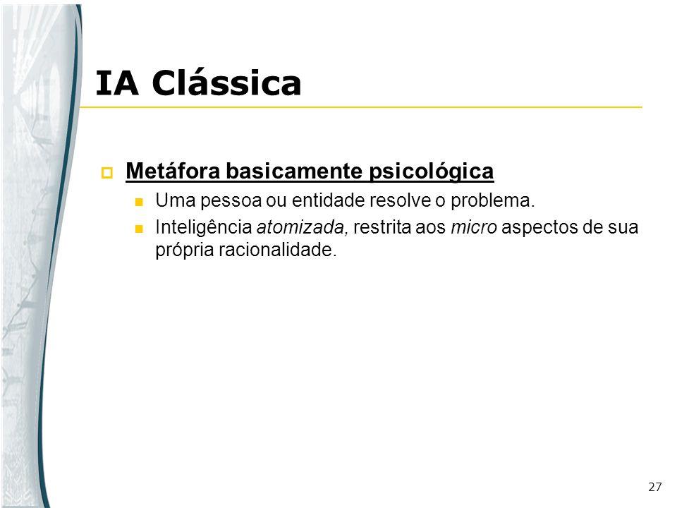 IA Clássica Metáfora basicamente psicológica