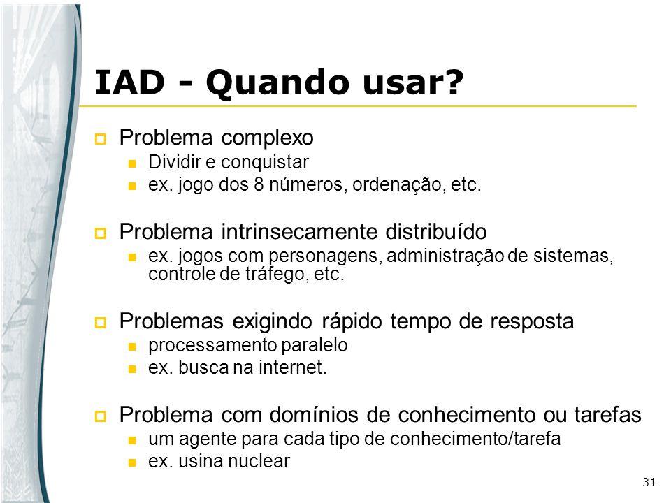 IAD - Quando usar Problema complexo