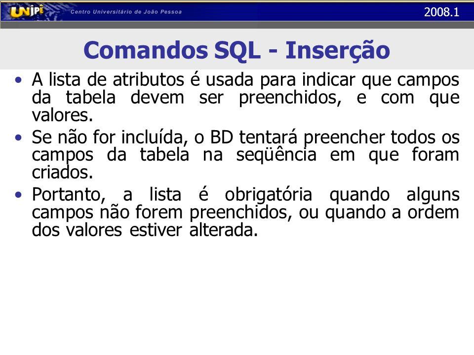 Comandos SQL - Inserção
