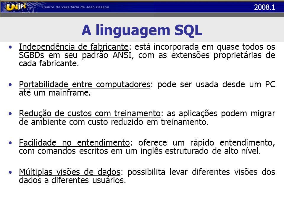 A linguagem SQL