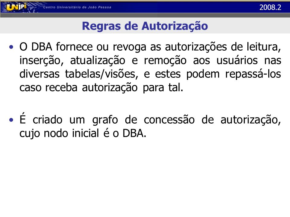 Regras de Autorização