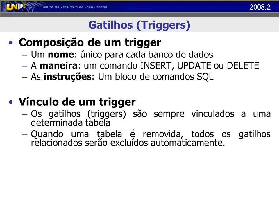 Composição de um trigger