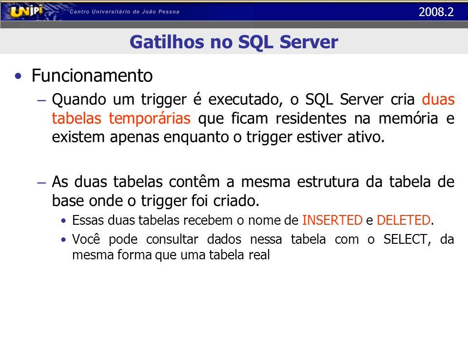 Gatilhos no SQL Server Funcionamento