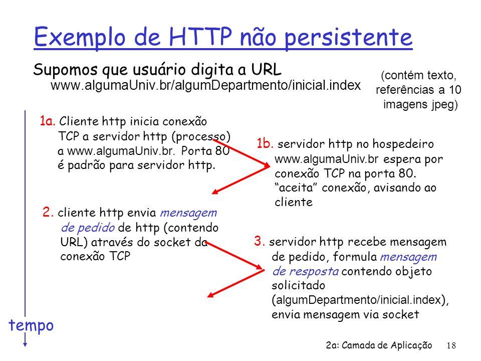 Exemplo de HTTP não persistente