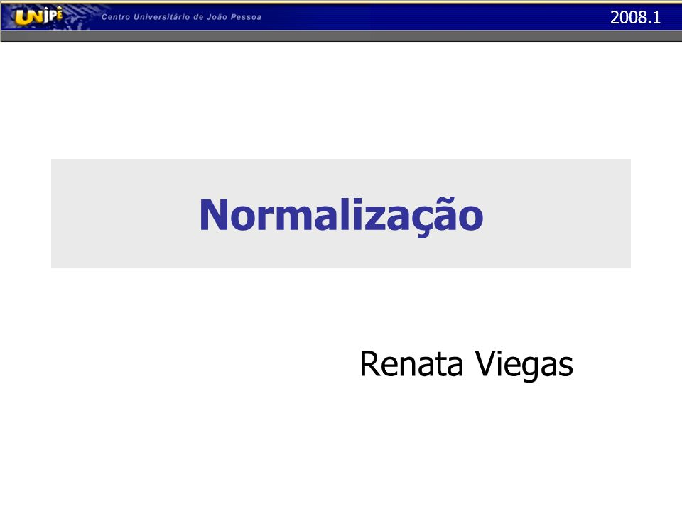 Normalização Renata Viegas