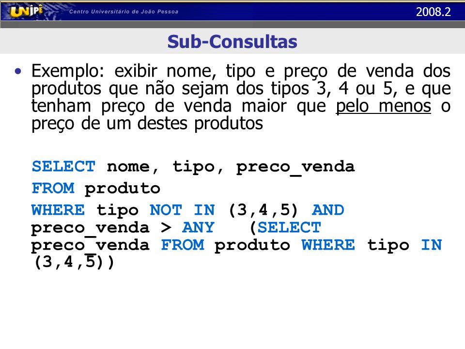 Sub-Consultas