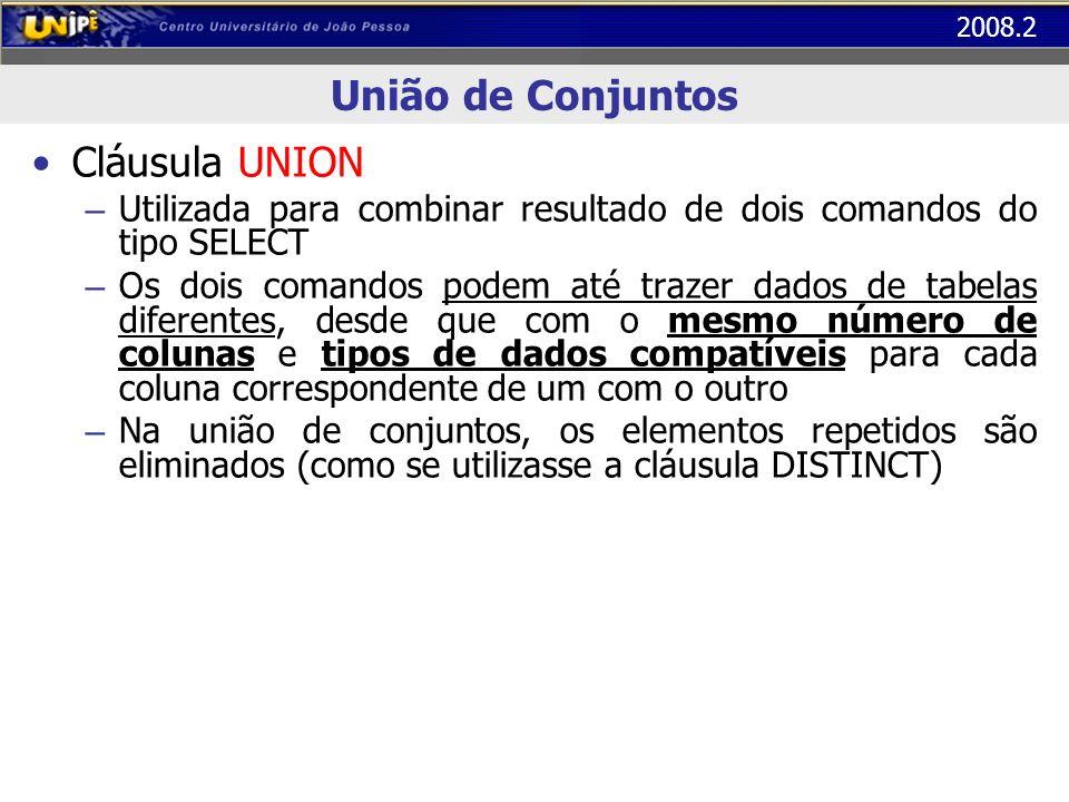 União de Conjuntos Cláusula UNION