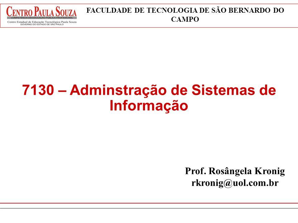 7130 – Adminstração de Sistemas de Informação