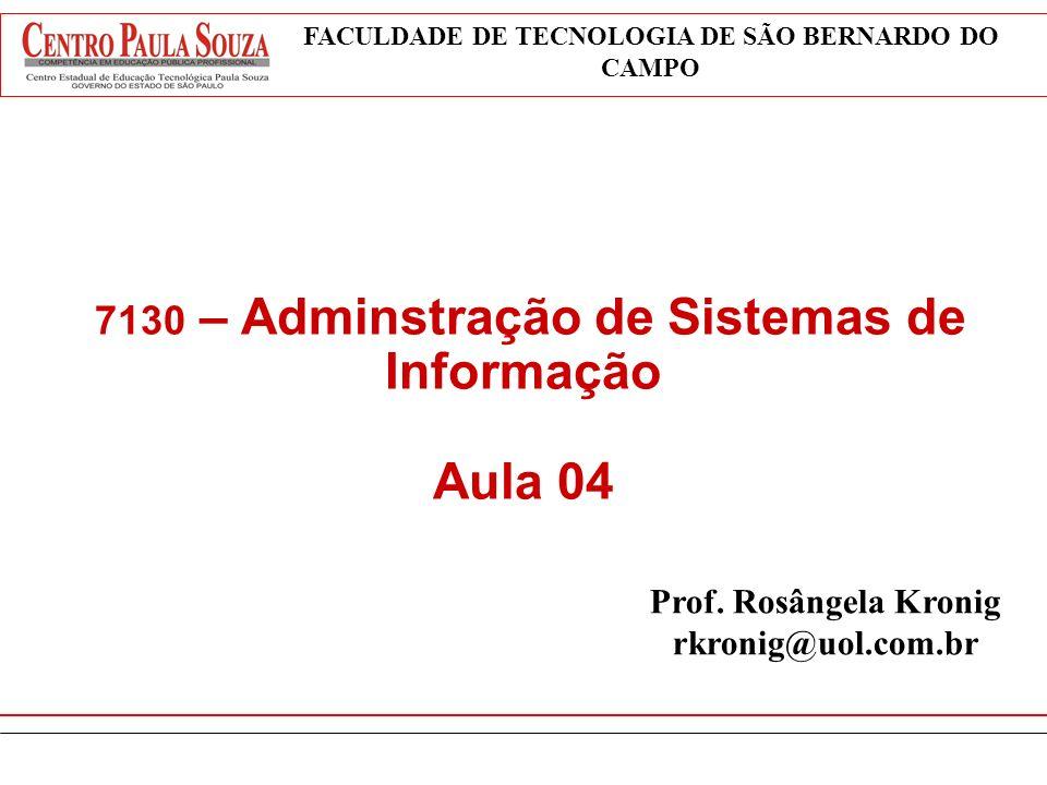 7130 – Adminstração de Sistemas de Informação Aula 04