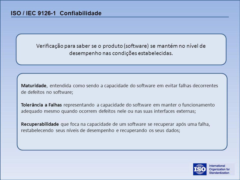 ISO / IEC 9126-1 Confiabilidade