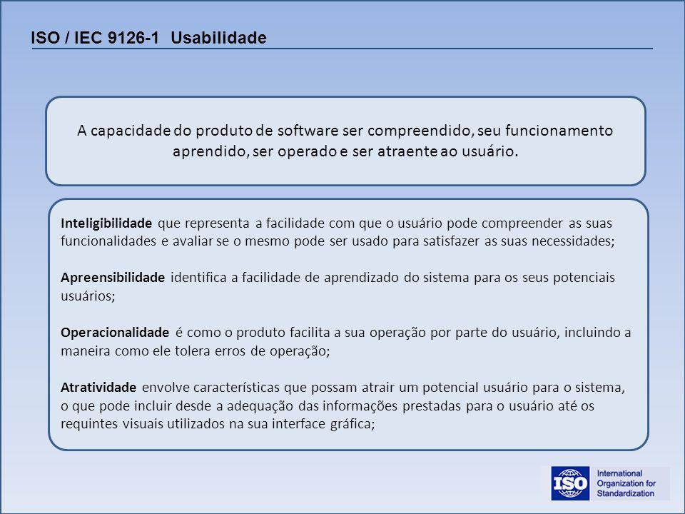 ISO / IEC 9126-1 Usabilidade
