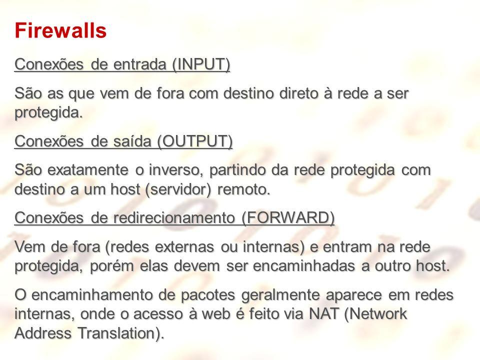Firewalls Conexões de entrada (INPUT)
