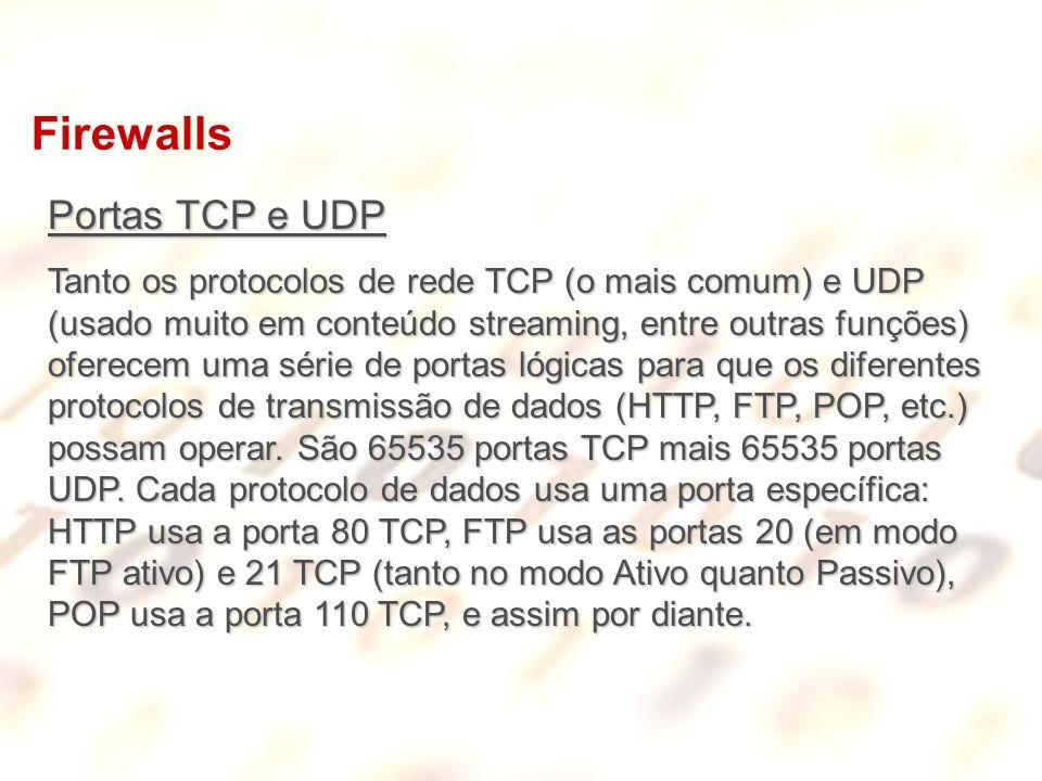 Firewalls Portas TCP e UDP