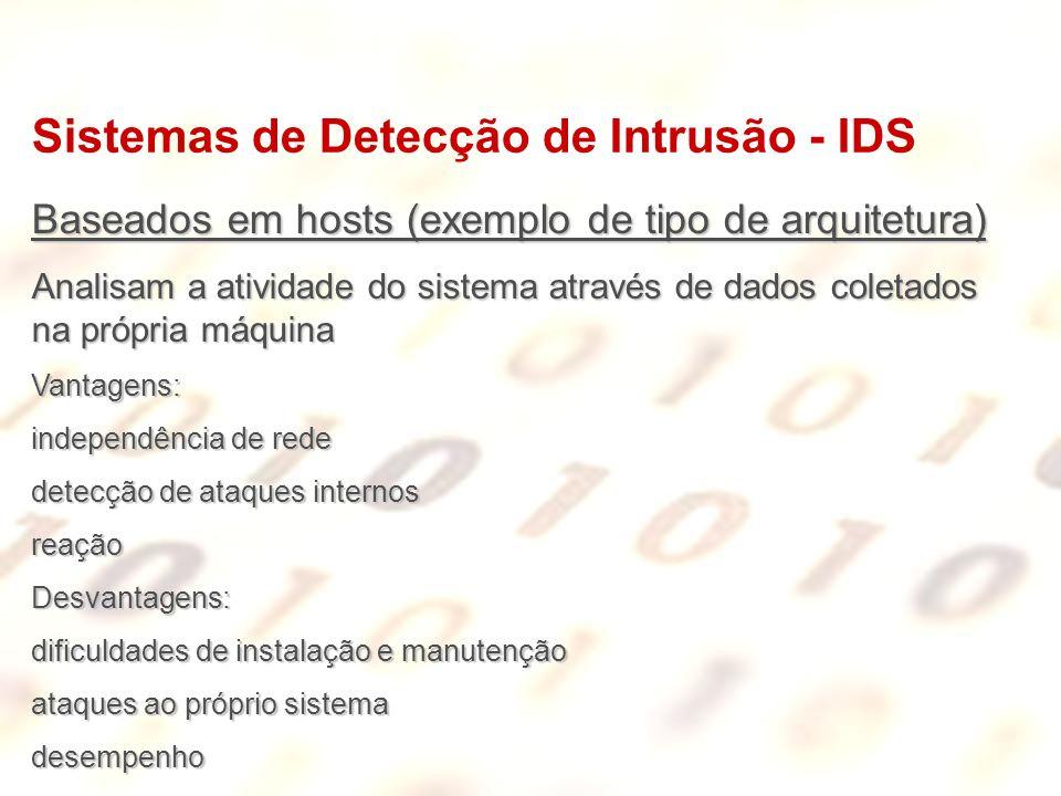 Sistemas de Detecção de Intrusão - IDS