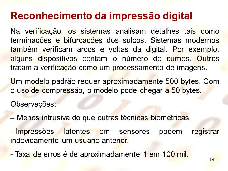 Reconhecimento da impressão digital