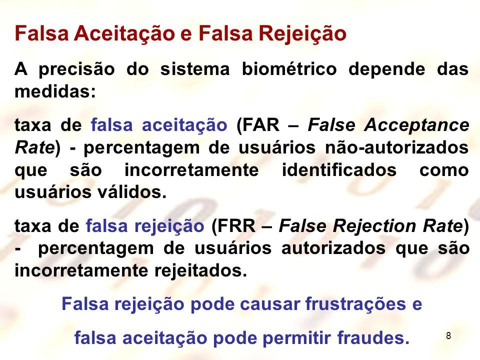 Falsa Aceitação e Falsa Rejeição