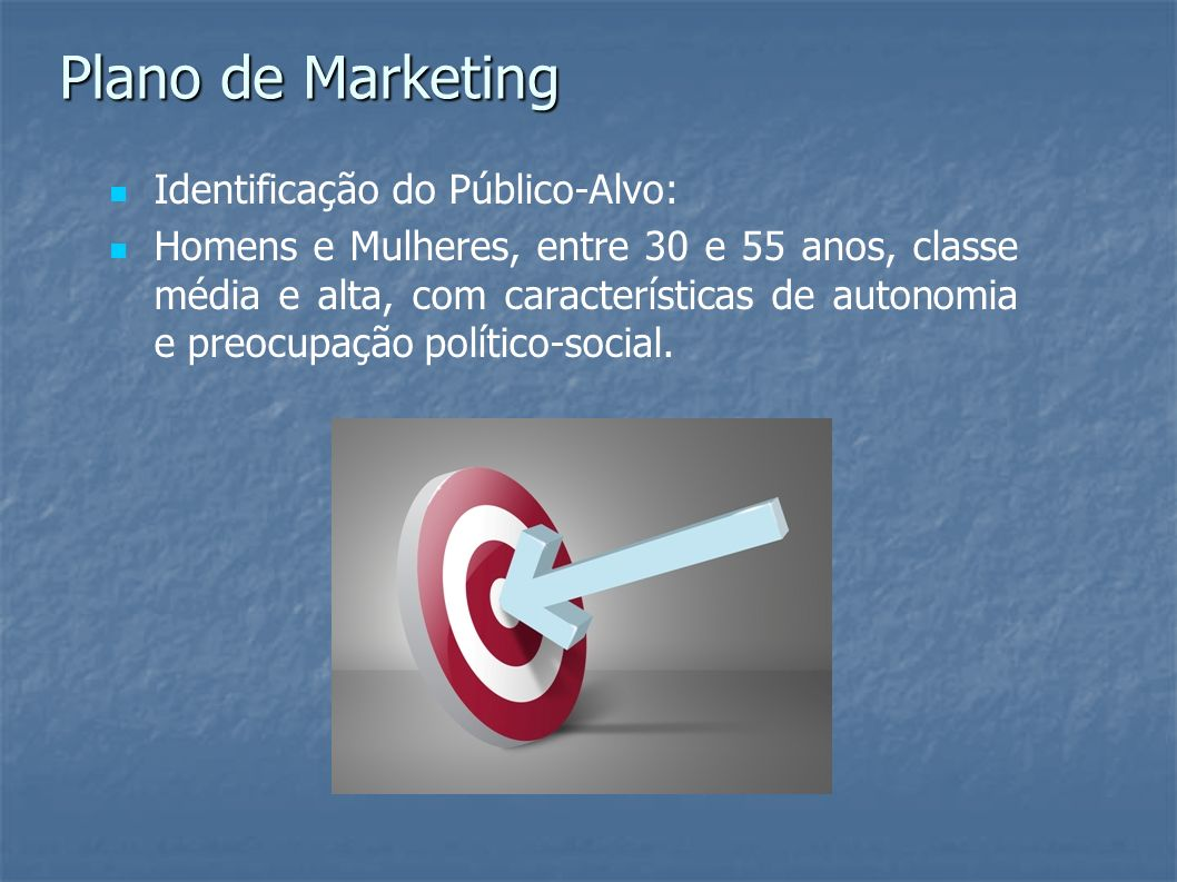 Plano de Marketing Identificação do Público-Alvo: