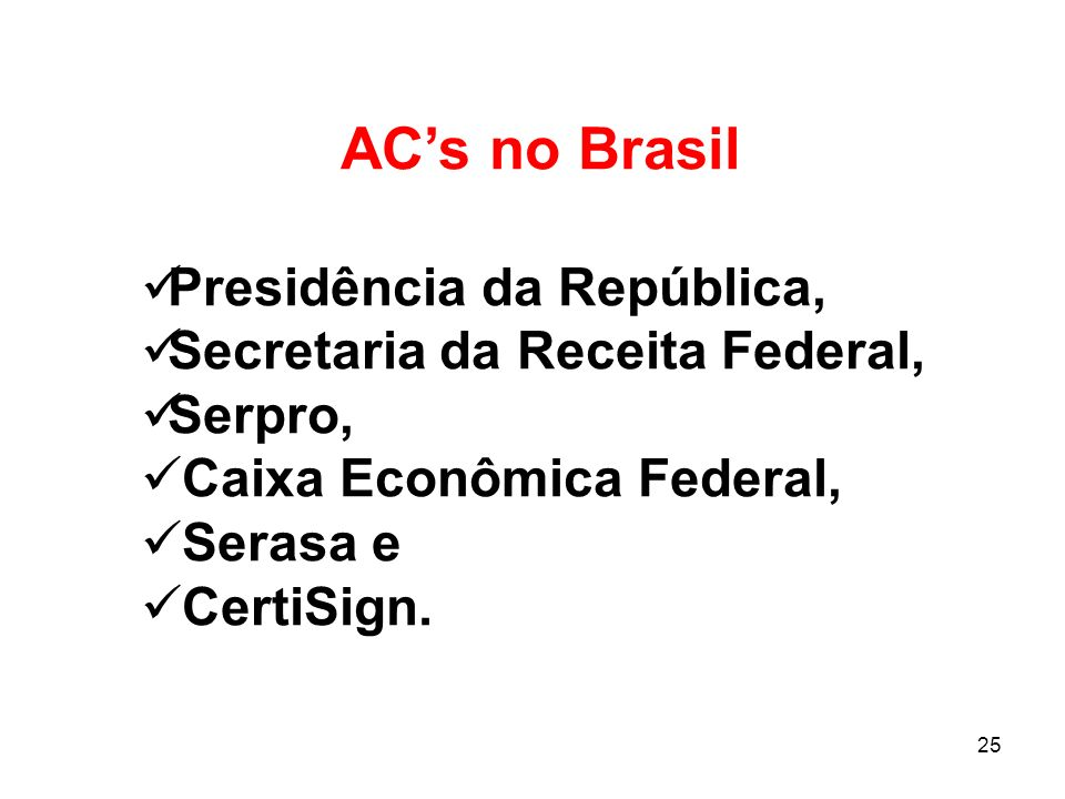 AC's no Brasil Presidência da República,