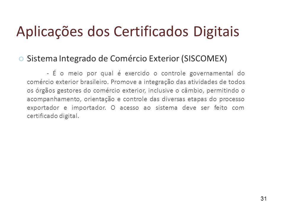 Aplicações dos Certificados Digitais