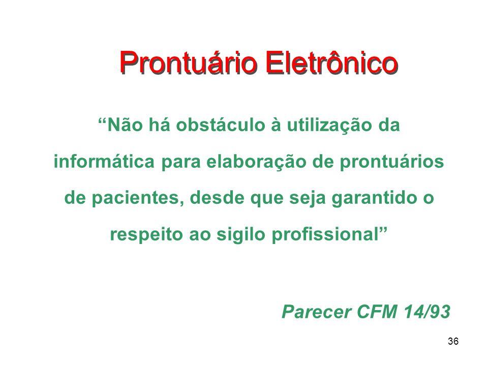Prontuário Eletrônico