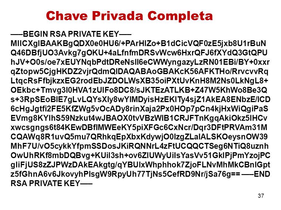 Chave Privada Completa