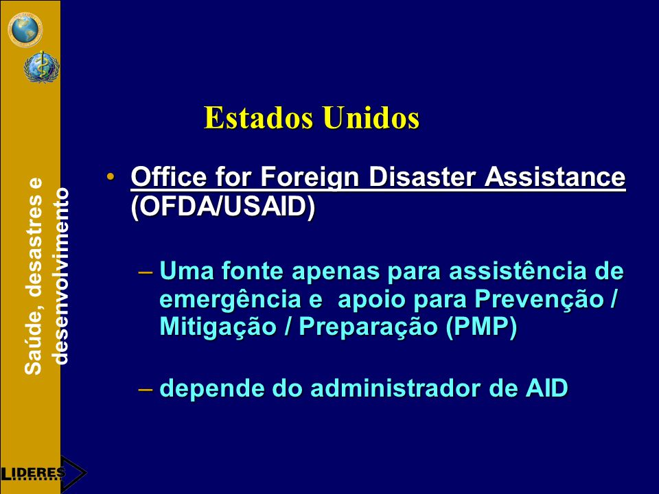 Estados Unidos Office for Foreign Disaster Assistance (OFDA/USAID)