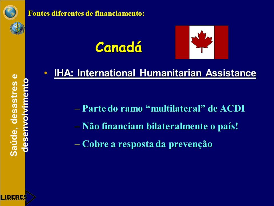 Canadá IHA: International Humanitarian Assistance