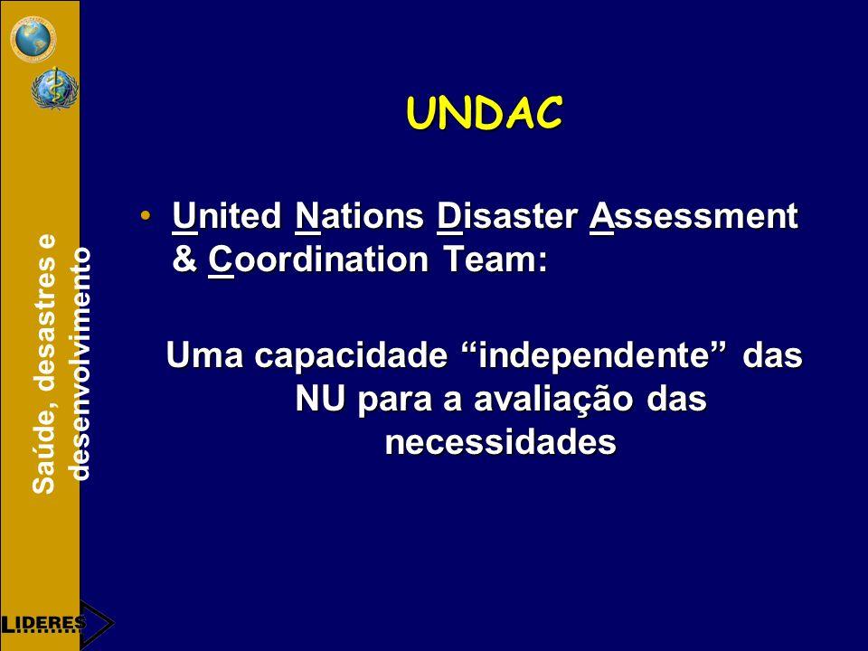 Uma capacidade independente das NU para a avaliação das necessidades