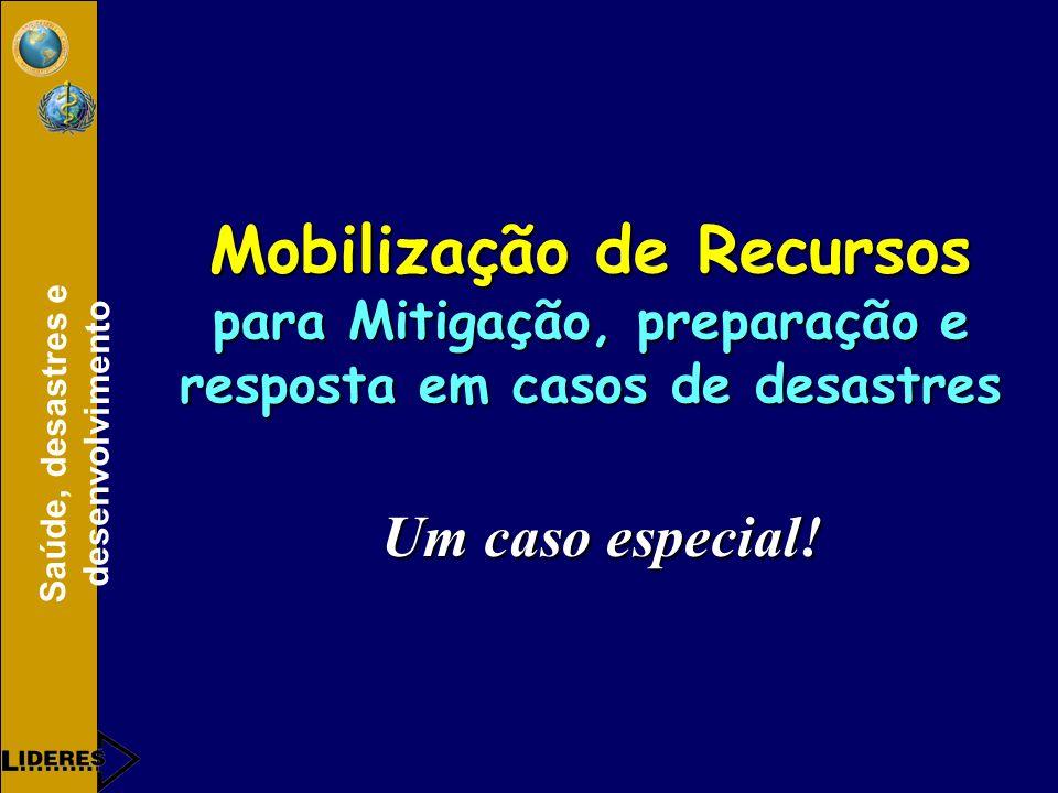 Mobilização de Recursos para Mitigação, preparação e resposta em casos de desastres