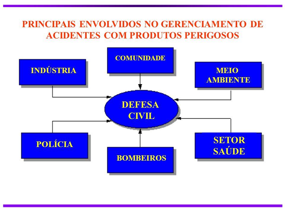 PRINCIPAIS ENVOLVIDOS NO GERENCIAMENTO DE ACIDENTES COM PRODUTOS PERIGOSOS