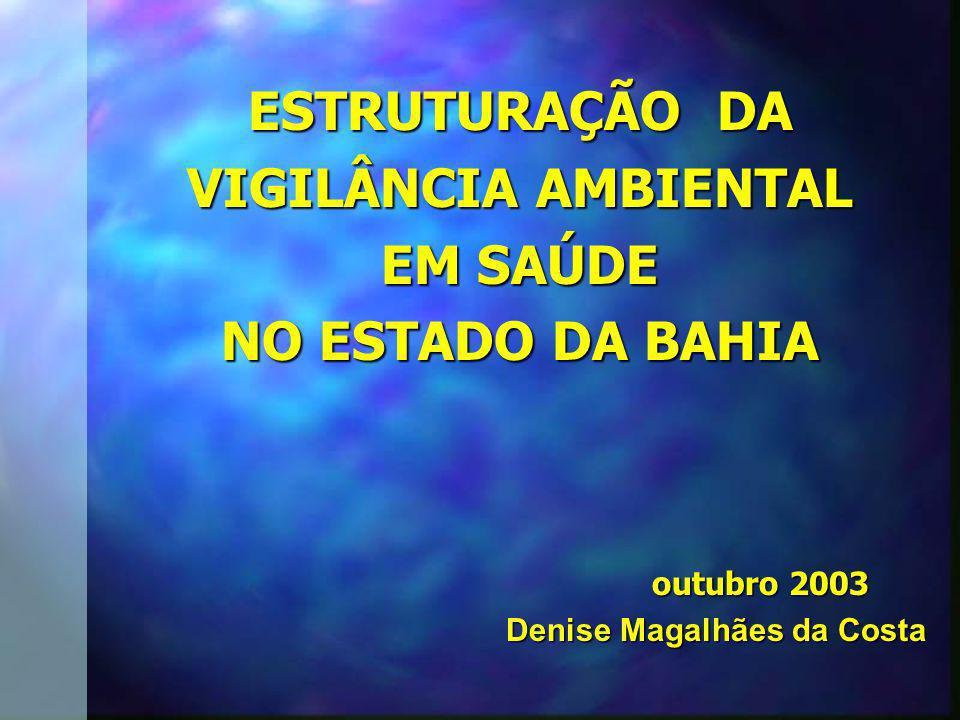 ESTRUTURAÇÃO DA VIGILÂNCIA AMBIENTAL EM SAÚDE NO ESTADO DA BAHIA