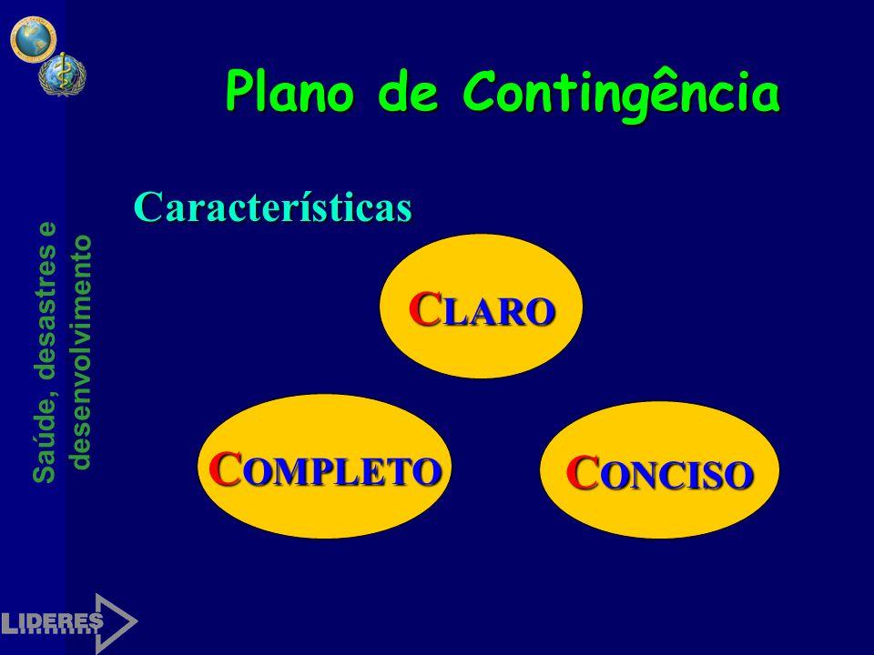 Plano de Contingência Características CLARO COMPLETO CONCISO